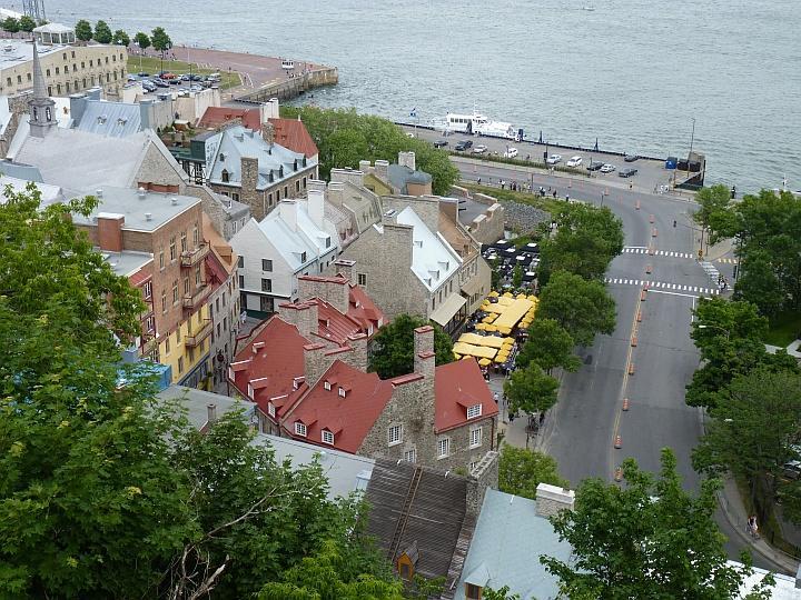 Blick-auf-die-Unterstadt-Quebec