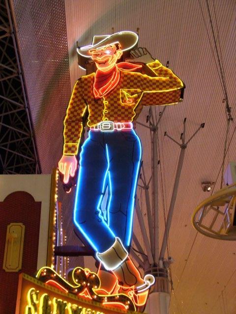Cowboy an der Fremont Street in Las Vegas