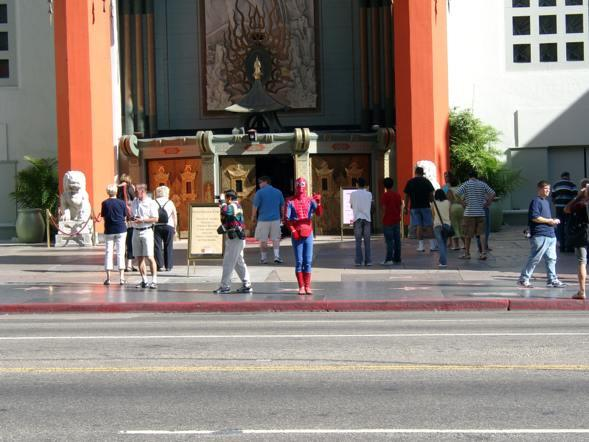 Spiderman in Los Angeles