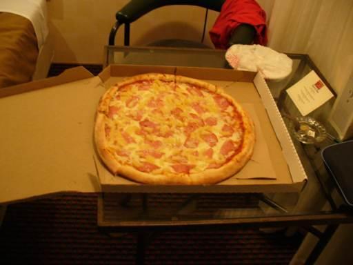 Eine Amerikanische Medium Pizza