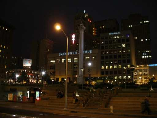 Union Square bei Nacht in San Francisco