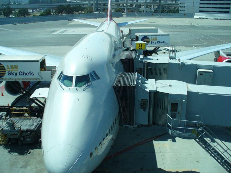 British Airways Flugzeug am SFO