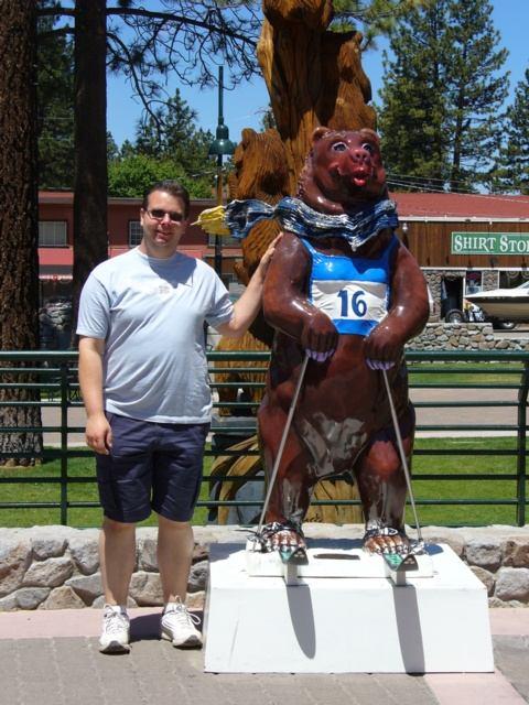 Baer mit Andree am Lake Tahoe