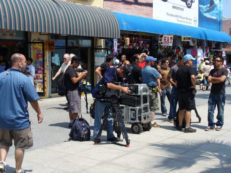 Kamerateam in Los Angeles
