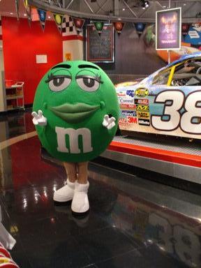 M&M gruen in Las Vegas