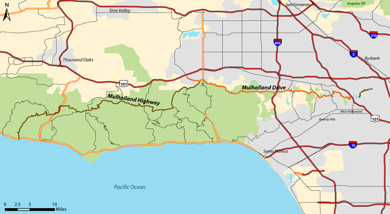 Mulholland Drive Map