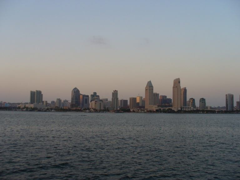 San Diego Skyline im Abendlicht