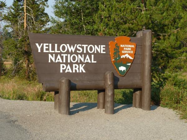 Yellowstone-Schild