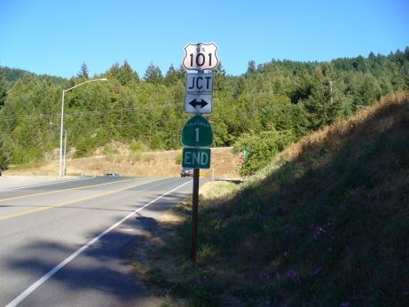 Das Ende des Highway 1 in Kalifornien
