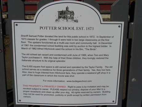 Potter School House Bodega Bay Tafel