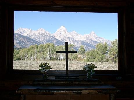 Trasfiguration Kapelle in Teton NP