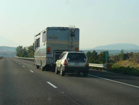 Wohnwagen mit Anhanger in den USA