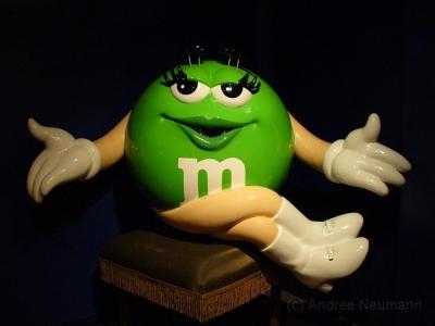 M&M World Las Vegas grünes M