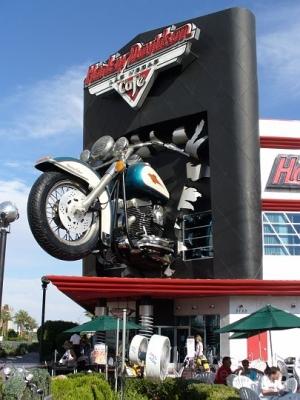 Harley Davidson Cafe in Vegas