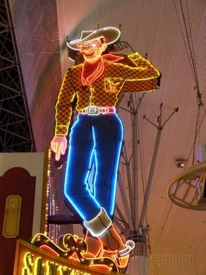 Neon Cowboy in der Fremont Street