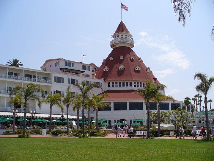 Hotel del Coronado vom Strand aus