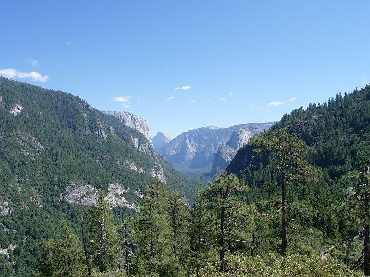 Blick ins Yosemite Valley im Yosemite NP
