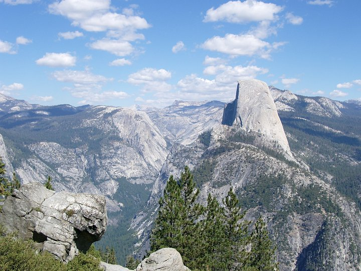 Der Half Dome vom Glacier Point aus